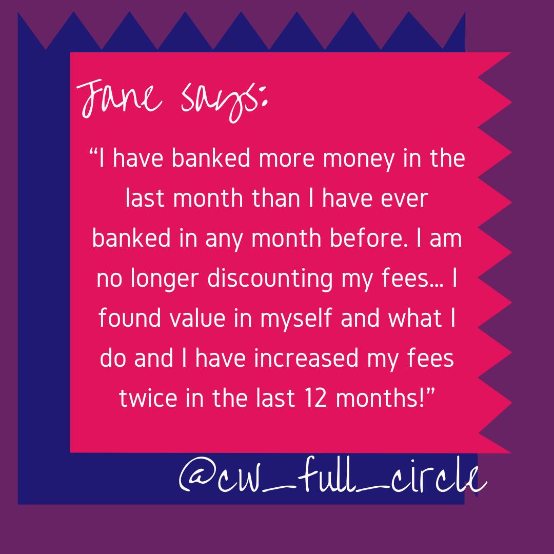 Jane's Testimonial